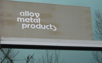 alloy metal products sign